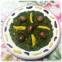 سلطة السبانخ , salade ( épinards,pourpier,...)